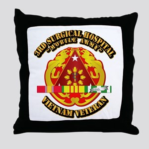 3rd Surgical Hospital w SVC Ribbon Throw Pillow