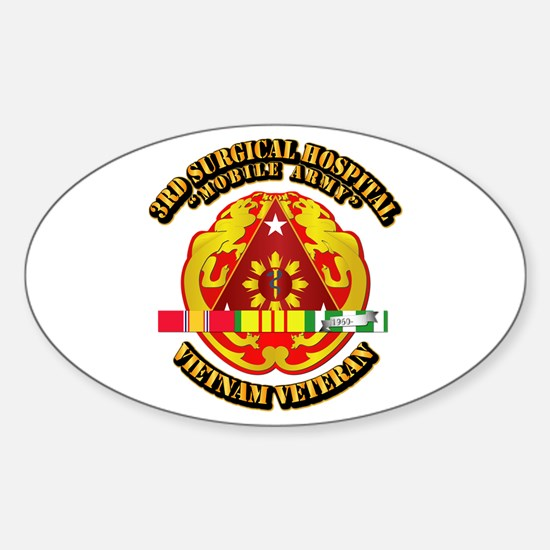 3rd Surgical Hospital w SVC Ribbon Sticker (Oval)