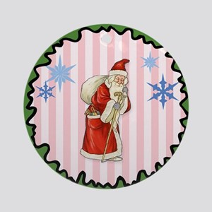 Vintage St. Nicholas Framed Ornament (round)