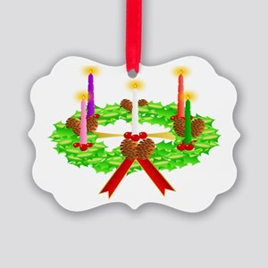 Advent Wreath Picture Ornament