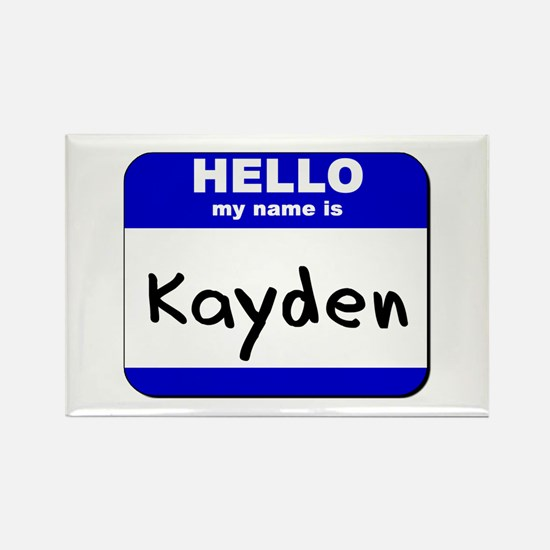 hello my name is kayden Rectangle Magnet