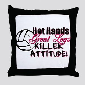 Hot Hands & Great Legs Throw Pillow