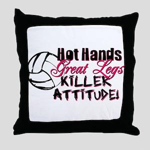 Hot Hands & Great Legs Throw Pillow
