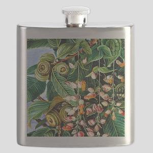 Marianne North: A Darjeeling Oak Festooned w Flask