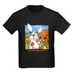 Cartoon Rabbit Carrot Kids Dark T-Shirt