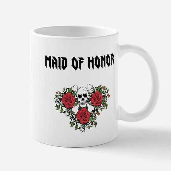 Maid of Honor Skull Roses Mugs