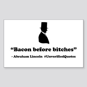 Bacon Before Bitches Sticker (Rectangle)