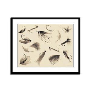 Fly Illustrator Flies Framed Panel Print