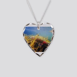Rainbow Trout Necklace Heart Charm