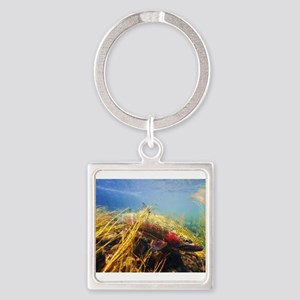 Rainbow Trout Square Keychain