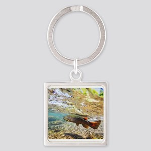 Brown Trout Square Keychain