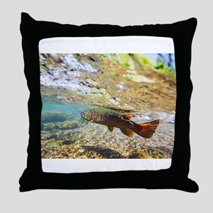 Brown Trout Throw Pillow