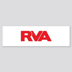 RVA Logo Red Bumper Sticker