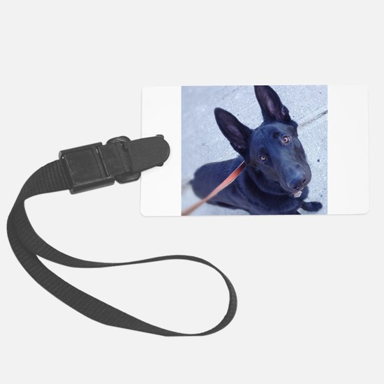 Black German Shepherd Attention! Luggage Tag