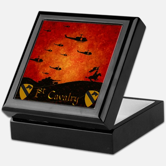 Harvest Moon 1St Cavalry Past Present Keepsake Box