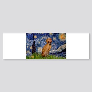 5.5x7.5-Starry-Viszla2 Bumper Sticker