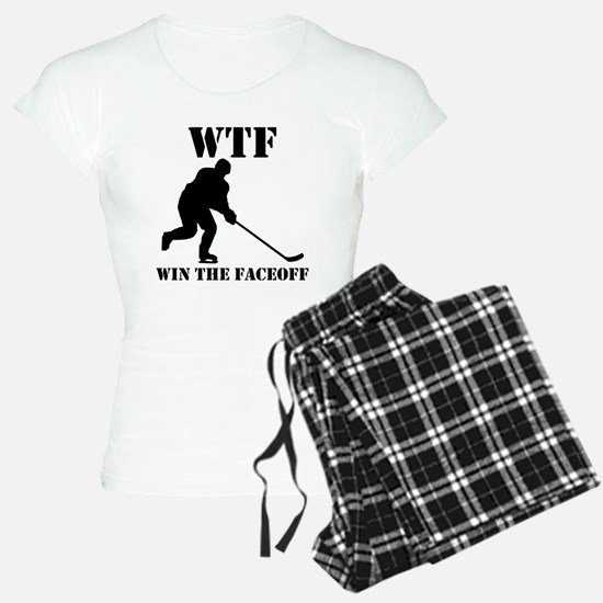 WTF Win The Faceoff pajamas