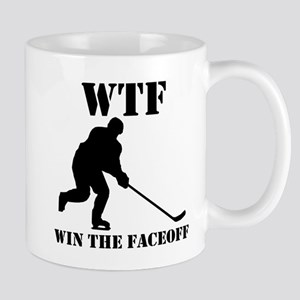 WTF Win The Faceoff Mugs