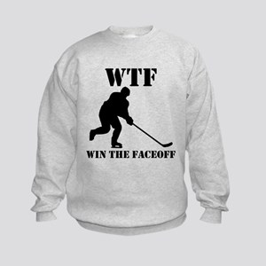 WTF Win The Faceoff Sweatshirt