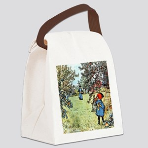Carl Larsson: The Apple Harvest Canvas Lunch Bag