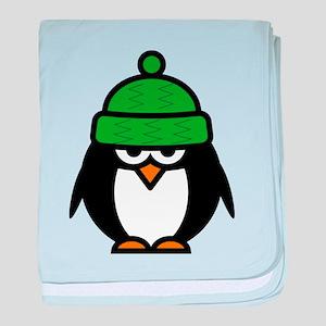 Funny penguin cartoon baby blanket