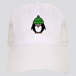 Funny penguin cartoon Baseball Cap