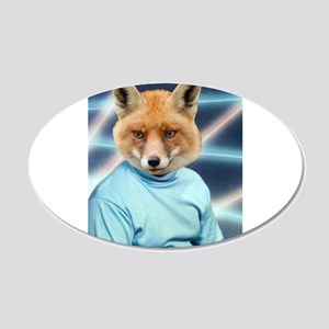 Fox Man Yearbook Photo Altered Art Kawaii Quirky W