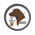 Chocolate Lab Wall Clock