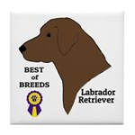 Chocolate Lab Tile Coaster
