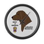 Chocolate Lab Large Wall Clock
