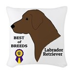 Chocolate Lab Woven Throw Pillow