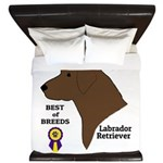 Chocolate Lab King Duvet