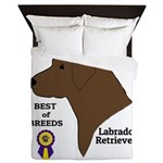 Chocolate Lab Queen Duvet