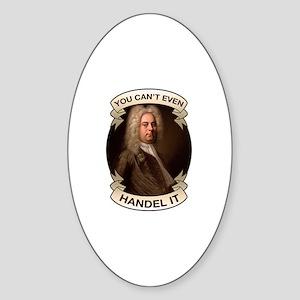 Handel Pun Sticker (Oval)