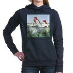 Art Nouveau: Bathing Nymphs Hooded Sweatshirt
