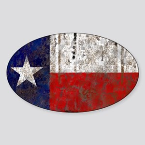 Texas Retro State Flag Oval Sticker