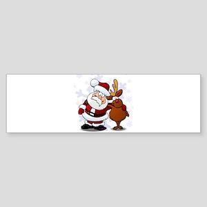 Santa, Rudolph Christmas Sticker (Bumper)
