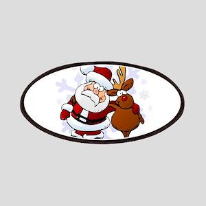 Santa, Rudolph Christmas Patches