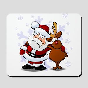 Santa, Rudolph Christmas Mousepad