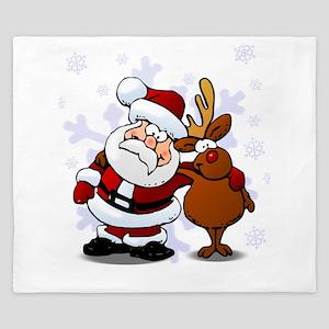Santa, Rudolph Christmas King Duvet
