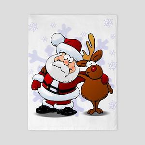 Santa, Rudolph Christmas Twin Duvet