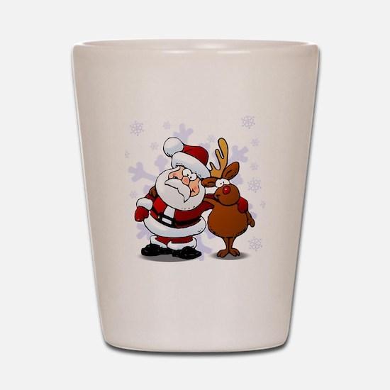 Santa, Rudolph Christmas Shot Glass
