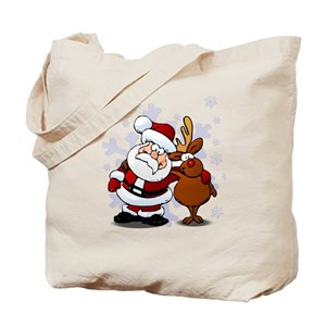 christmas canvas tote bags cafepress