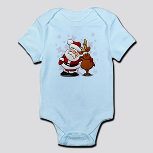 Santa, Rudolph Christmas Infant Bodysuit