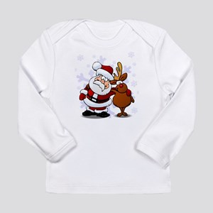 Santa, Rudolph Christmas Long Sleeve Infant T-Shir