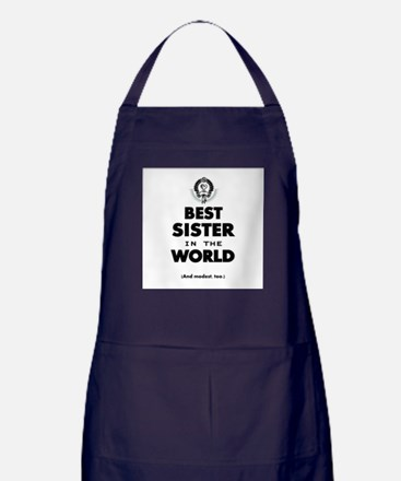 The Best in the World Best Sister Apron (dark)