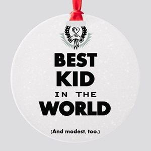 The Best in the World Best Kid Ornament