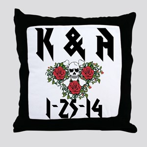 Personalized Skull Throw Pillow