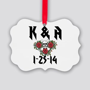 Personalized Skull Ornament