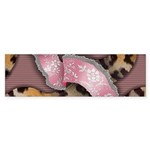 Leopards and Lace - Pink Sticker (Bumper 10 pk)